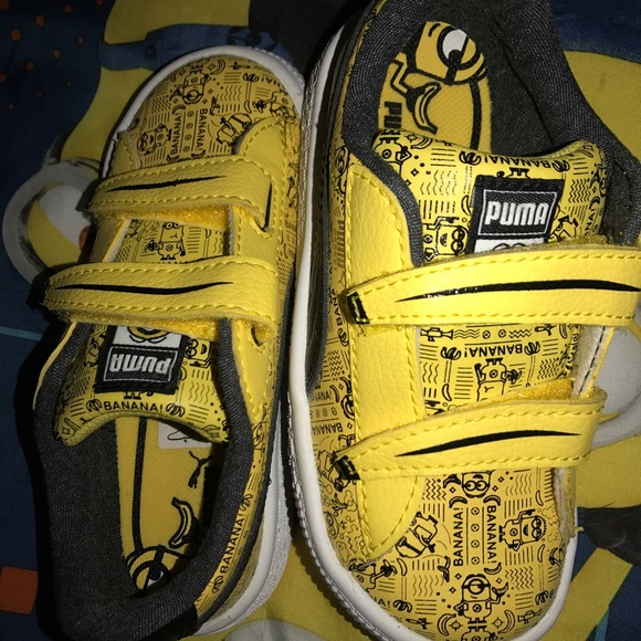 Puma Shoes Minions Kids Size 8 Boys Girls Toddler Poshmark